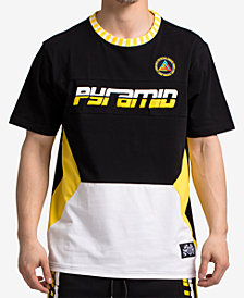 Black Pyramid Men's Colorblocked Graphic-Print T-Shirt