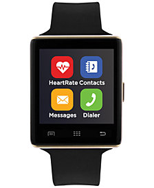 iTouch Unisex Air 2 Black Silicone Strap Bluetooth Smart Watch 45mm