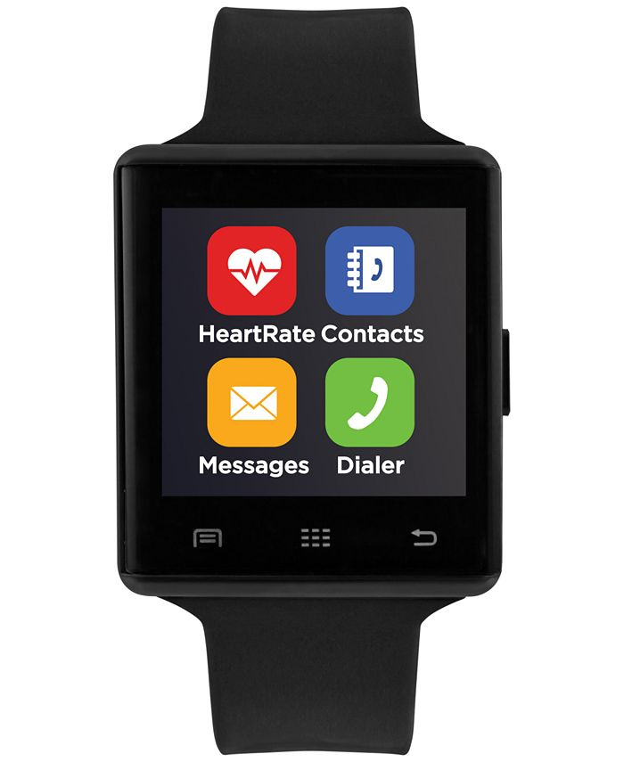iTouch - Air 2 Black Silicone Strap Bluetooth Smart Watch 41mm