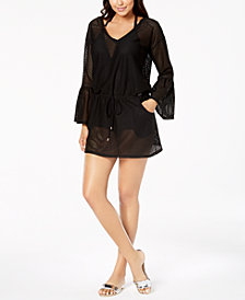 Calvin Klein Sheer Bell-Sleeve Cover-Up