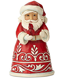 Jim Shore Pint-Sized Red & White Santa Figurine