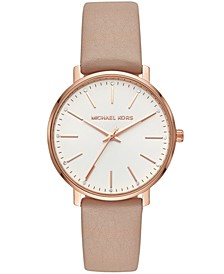 Women's Pyper Brown Leather Strap Watch 38mm