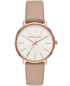Michael Kors Pyper Collection Leather Strap Watches