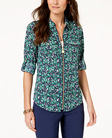 MICHAEL Michael Kors Printed Utility Shirt in Regular & Petitie Sizes