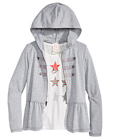 Belle Du Jour Big Girls 3-Pc. Hoodie, Tank Top & Necklace Set