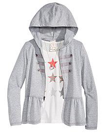 Belle Du Jour Big Girls 3-Pc. Hoodie, Tank Top & Necklace Set