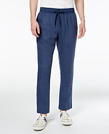 Tommy Hilfiger Men's Drawstring Linen Pants, Created for Macy's