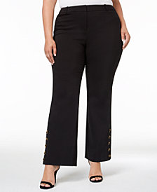 Calvin Klein Plus Size Button-Cuff Pants