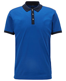 BOSS Men's Slim-Fit Mercerized Cotton Polo