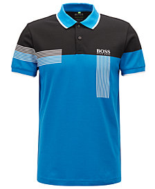 BOSS Men's Regular/Classic-Fit Colorblocked Polo