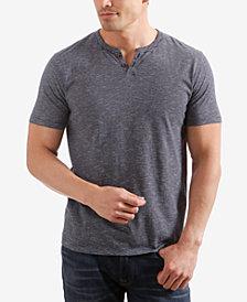 Lucky Brand Men's Textured-Stripe Split-Neck T-Shirt