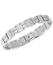 Men's Diamond Link Bracelet (3/8 ct. t.w.) in Stainless Steel