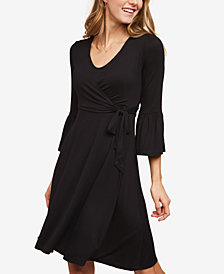 Motherhood Maternity Nursing Wrap Dress