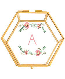 Cathy's Concepts Floral Personalized Glass Keepsake Box