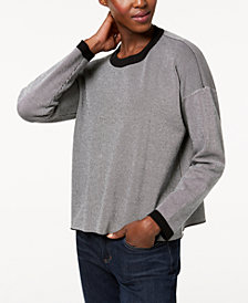 Eileen Fisher Tencel® Colorblocked Crew-Neck Sweater