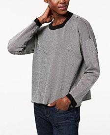 Eileen Fisher Tencel® Colorblocked Crew-Neck Sweater