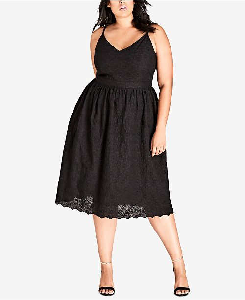 394699ea30a City Chic. Trendy Plus Size Cotton Embroidered Fit   Flare Dress. 1 reviews.   119.00. Free ship at  48 Free ship at  48 Details Details. main image   main ...