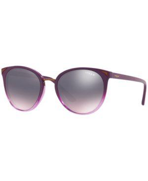 VOGUE Eyewear Sunglasses, Vo5230S 54 in Top Violet Gradient Violet Tr / Rose Gradient Grey Mirror Blue