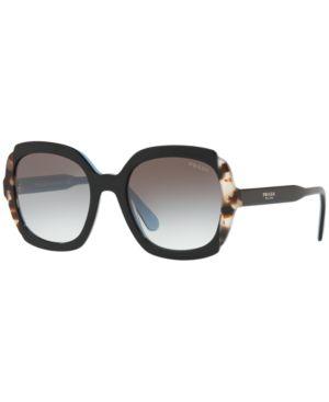 Women'S Etiquette Square Sunglasses, 54Mm in Black