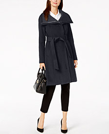 BCBGeneration Stand-Collar Wrap Coat
