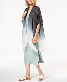 Steve Madden Ombré Metallic-Stripe Boho Wrap & Cover-Up