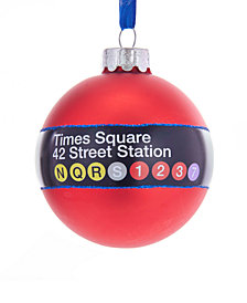 Kurt Adler MTA New York City Times Square 42nd Street Ball Ornament