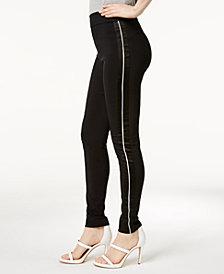 I.N.C. Curvy Satin-Contrast Skinny Pants, Created for Macy's