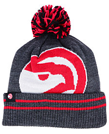 Mitchell & Ness Atlanta Hawks Black Heather Hi-5 Pom Knit