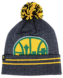 Mitchell & Ness Seattle SuperSonics Black Heather Hi-5 Pom Knit