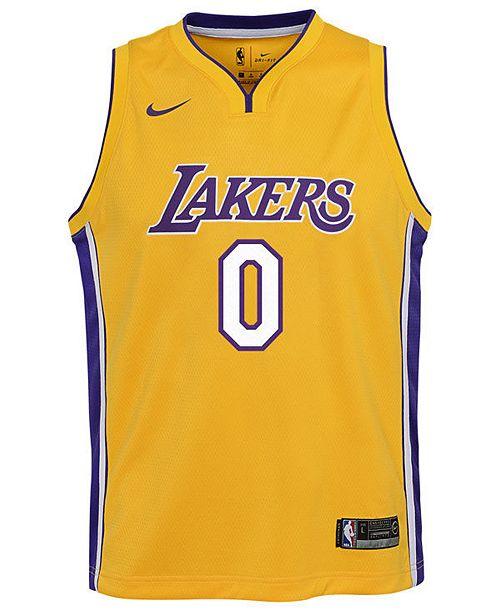 buy cheap a275e 4e8f9 Kyle Kuzma Los Angeles Lakers Icon Swingman Jersey, Big Boys (8-20)
