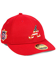 New Era Atlanta Braves Stars and Stripes Low Profile 59FIFTY Fitted Cap 2018