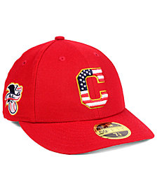 New Era Cleveland Indians Stars and Stripes Low Profile 59FIFTY Fitted Cap 2018