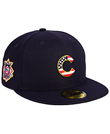 New Era Boys' Chicago Cubs Stars and Stripes 59FIFTY Fitted Cap