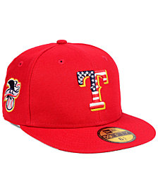 New Era Boys' Texas Rangers Stars and Stripes 59FIFTY Fitted Cap