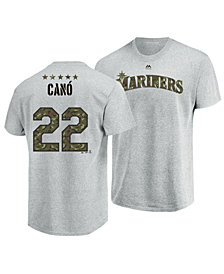 Majestic Men's Robinson Canó Seattle Mariners Camo Player T-Shirt