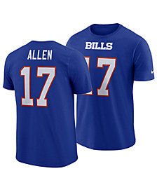 Nike Men's Josh Allen Buffalo Bills Pride Name and Number Wordmark T-Shirt