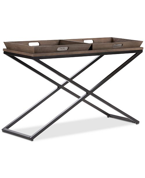 Simpli Home CLOSEOUT! Alee Console Table