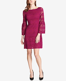 Tommy Hilfiger Botanical Lace Bell-Sleeve Dress