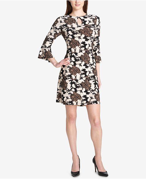 350b362af Tommy Hilfiger Canyon Floral Bell-Sleeve Dress   Reviews - Dresses ...