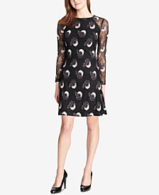 Tommy Hilfiger Bloom Embroidered Lace Dress