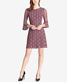 Tommy Hilfiger Pixy Lace Bell-Sleeve Dress