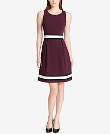 Tommy Hilfiger Colorblocked A-Line Dress