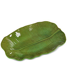 CLOSEOUT! Laurie Gates Medium Leaf Platter, First at Macy's