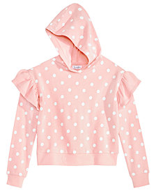 Love, Fire Big Girls Ruffle-Trim Hoodie