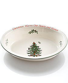 Spode Christmas Tree Sentiment Oval Rim Dish, Created for Macy's