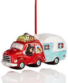 Holiday Lane Bear In A Camper Ornament, Created for Macy's