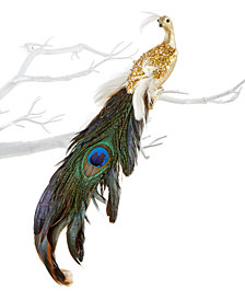 Holiday Lane Peacock Clip-On Ornament, Created for Macy's