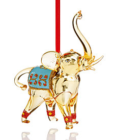 Holiday Lane Elephant Ornament with Blue Saddle, Created for Macy's