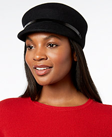 Nine West Wool Felt Newsboy Cap