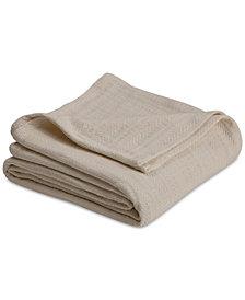 Vellux Cotton Textured Chevron Woven Full/Queen Blanket